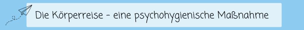 Psychohygienische Maßnahme Grundschule
