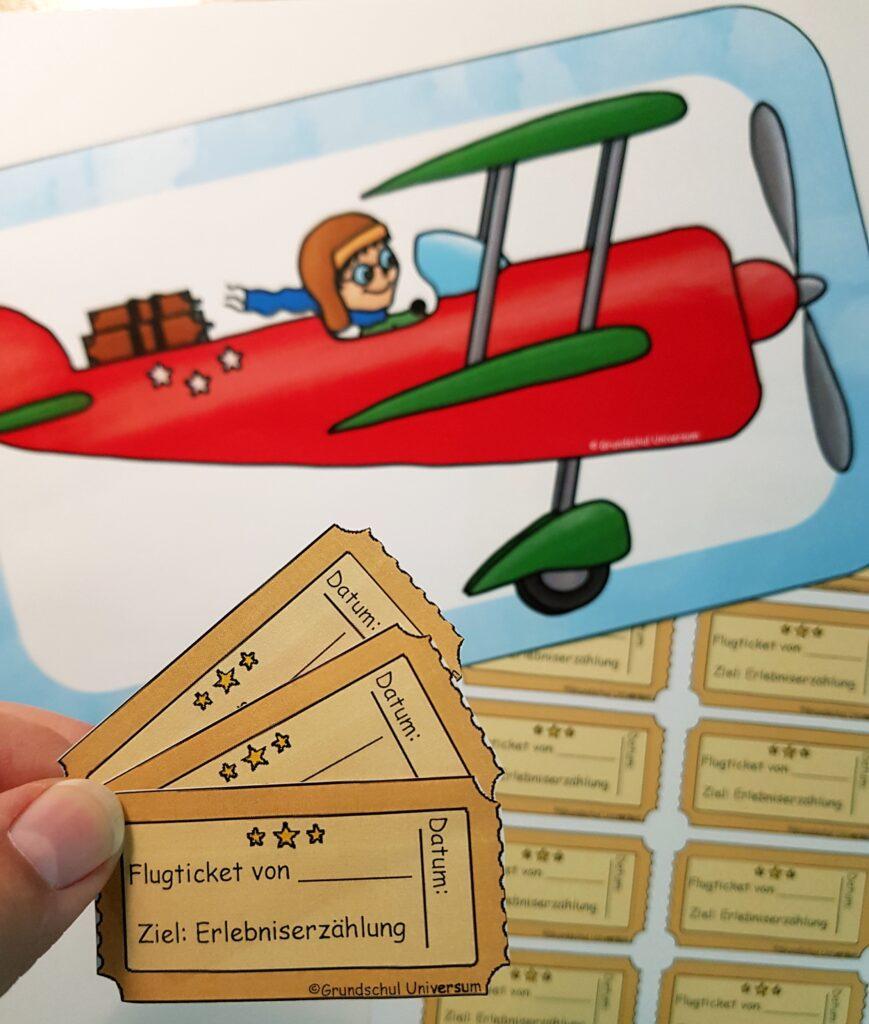 Flugplan Erlebniserzählung Ergänzung