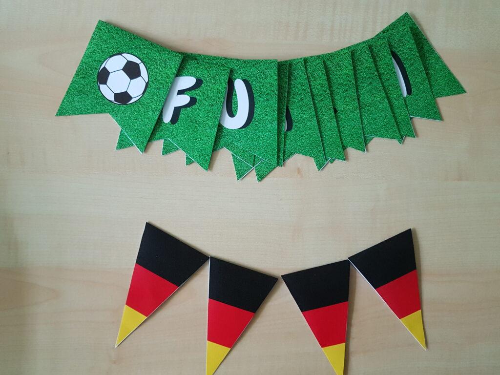 Wimpelketten Fußball-EM in der Grundschule